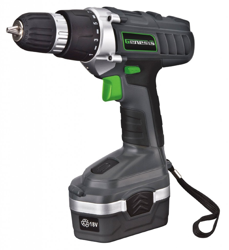 Genesis GCD18BK 18v Cordless Drill Driver Kit
