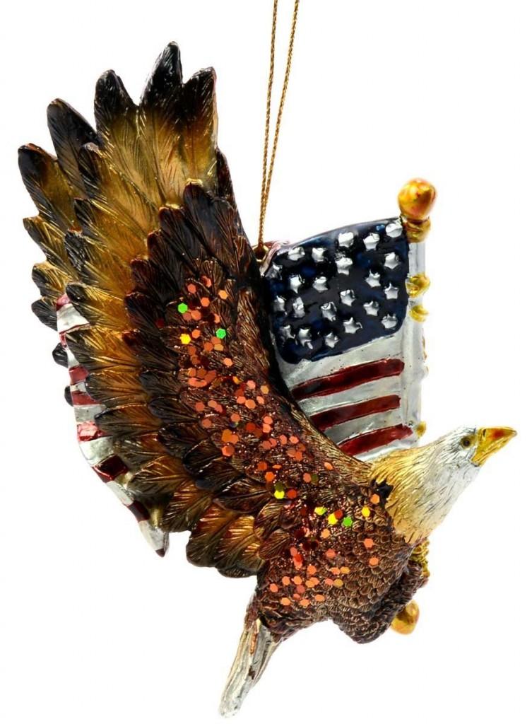 Kurt Adler Resin Patriotic Eagle
