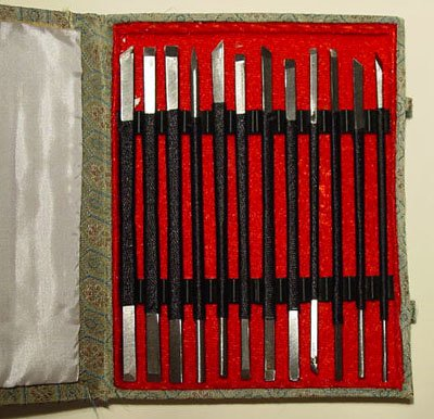 Set of 12 Stone Carving Chisels