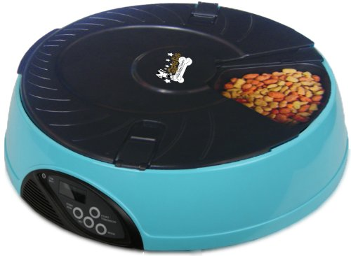 QPet 6-Meal Timed automatic Pet Feeder