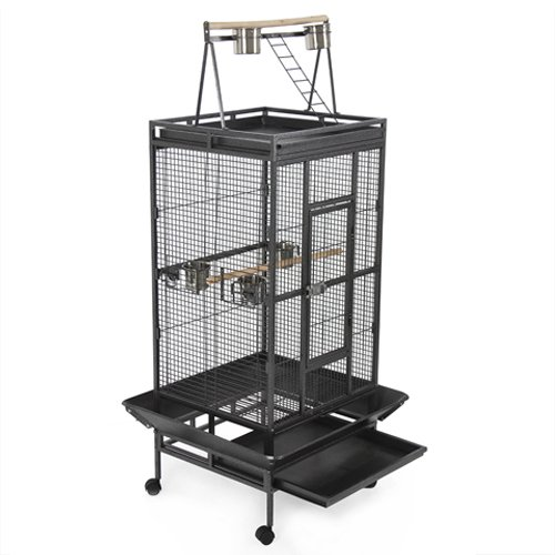 New Large Play Top Bird Cage Parttot Finch Macaw Cockatoo Birdcages