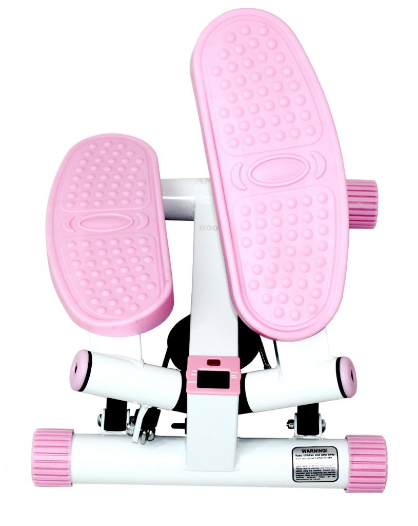 Sunny Health & Fitness Pink Adjustable Twist Stepper