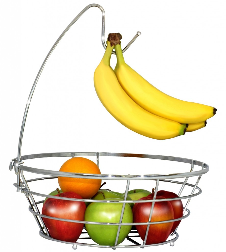 DecoBros Wire Fruit Tree Bowl