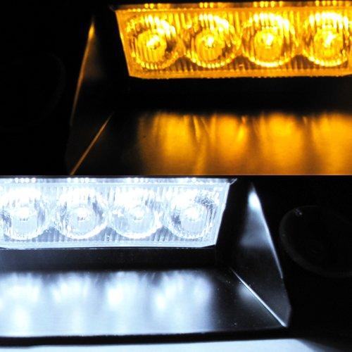 Amber 8-LED Police Emergency Car Boat
