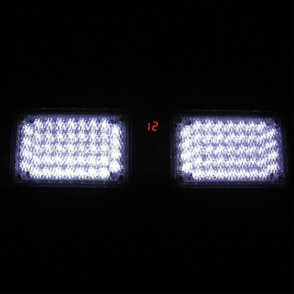 Aurnoc New Commercial Truck Boat Car 86-LED Strobe Lights