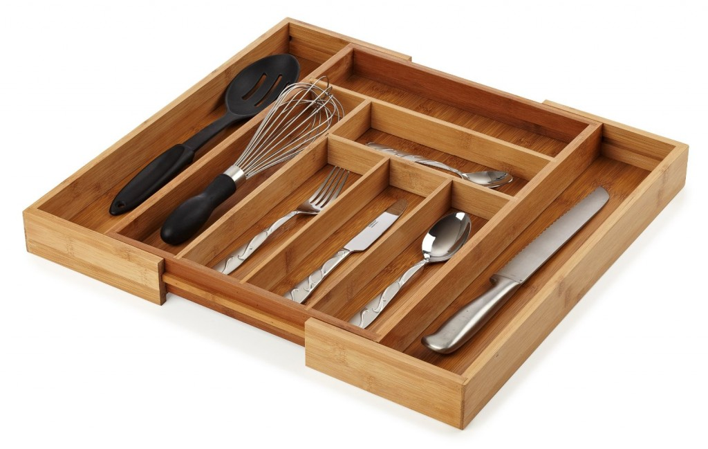 Bellemain Bamboo Expandable Cutlery Drawer Organizer