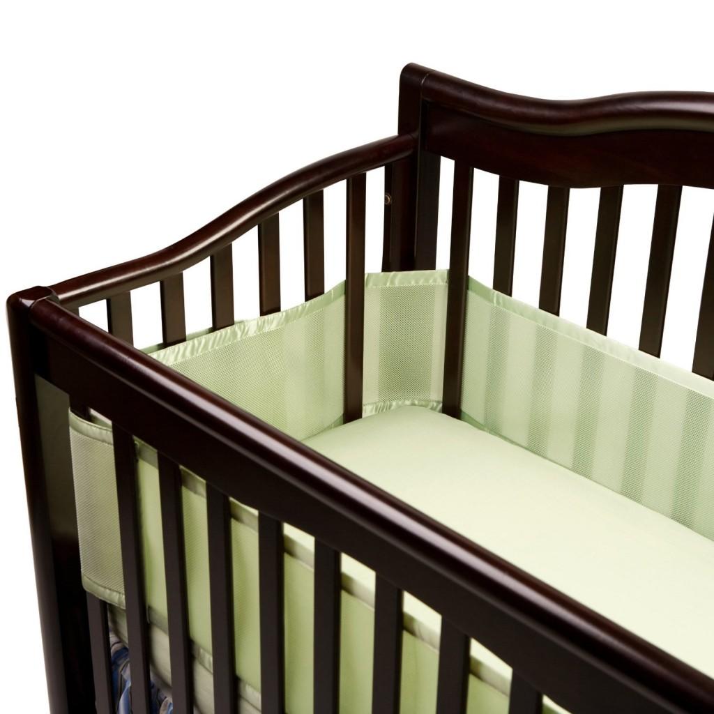 BreathableBaby Breathable Mesh Crib Liner Sage