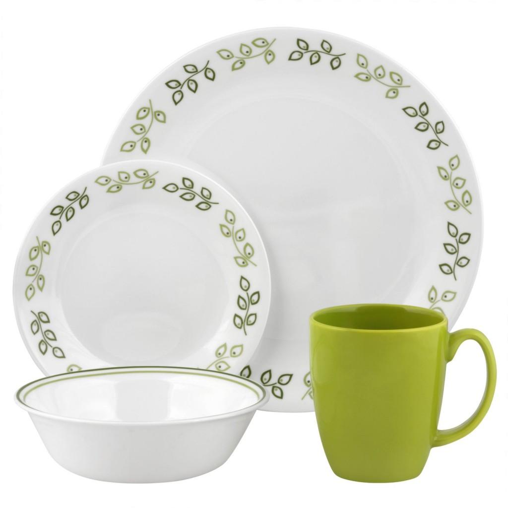 Corelle Contours Neo Leaf 16-Piece Dinnerware Set