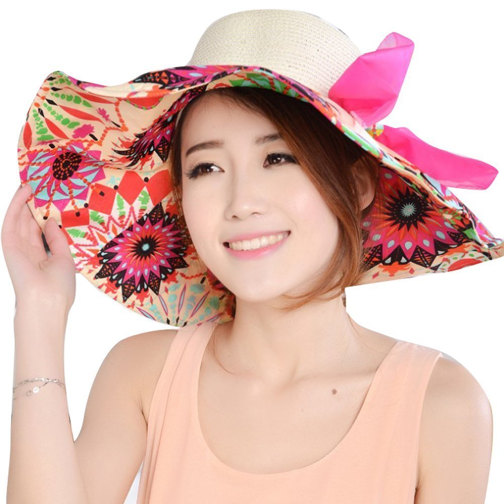 Crazycity Women Ladies Bohemia Straw Hat