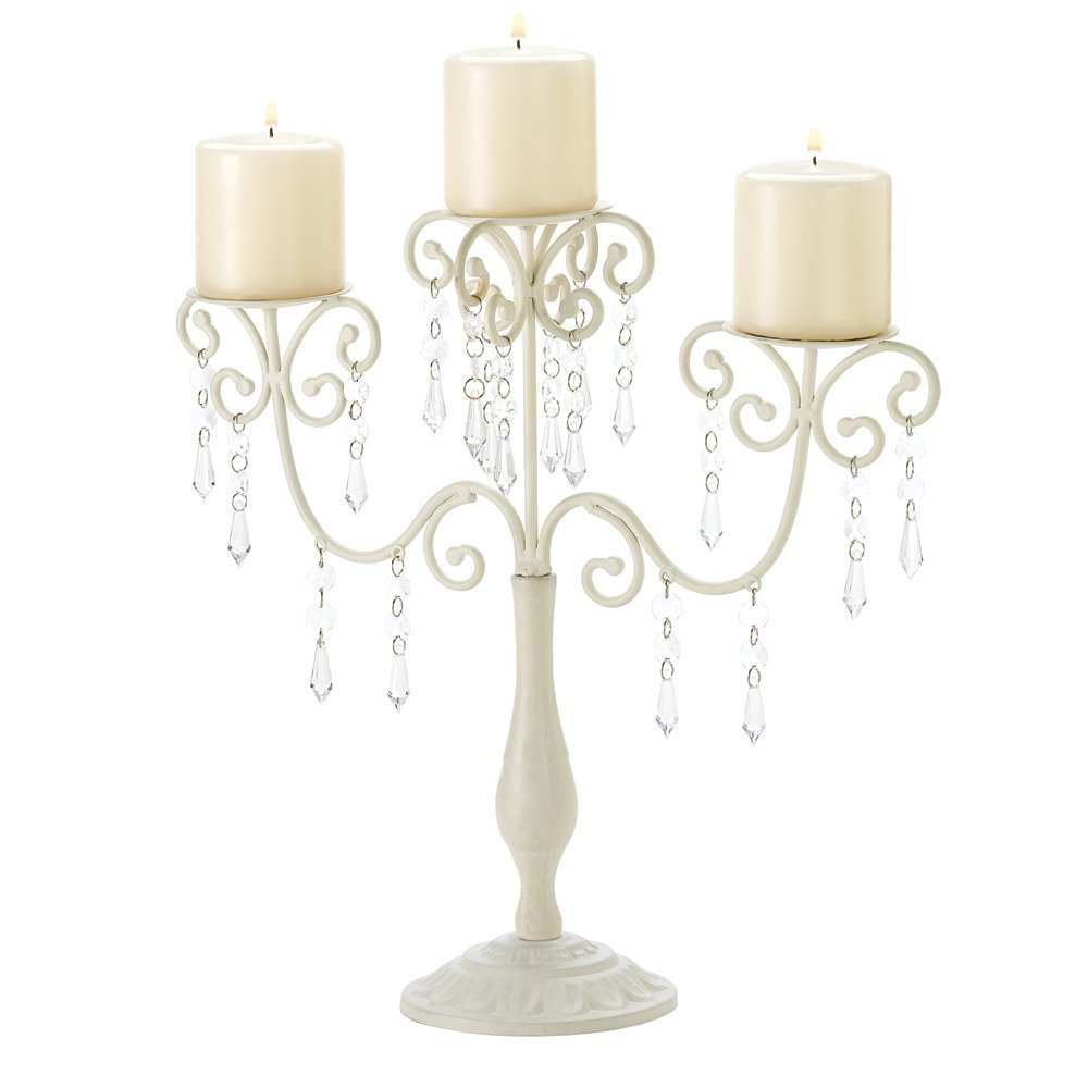 Gifts & Decor Ivory Candelabra Wedding