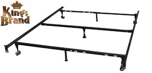 King's Brand 7-Leg Heavy Duty Adjustable Metal Bed Frame