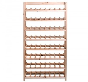 Wood Wine Bottle Rack - Display your wine collection in a space-saving way.
