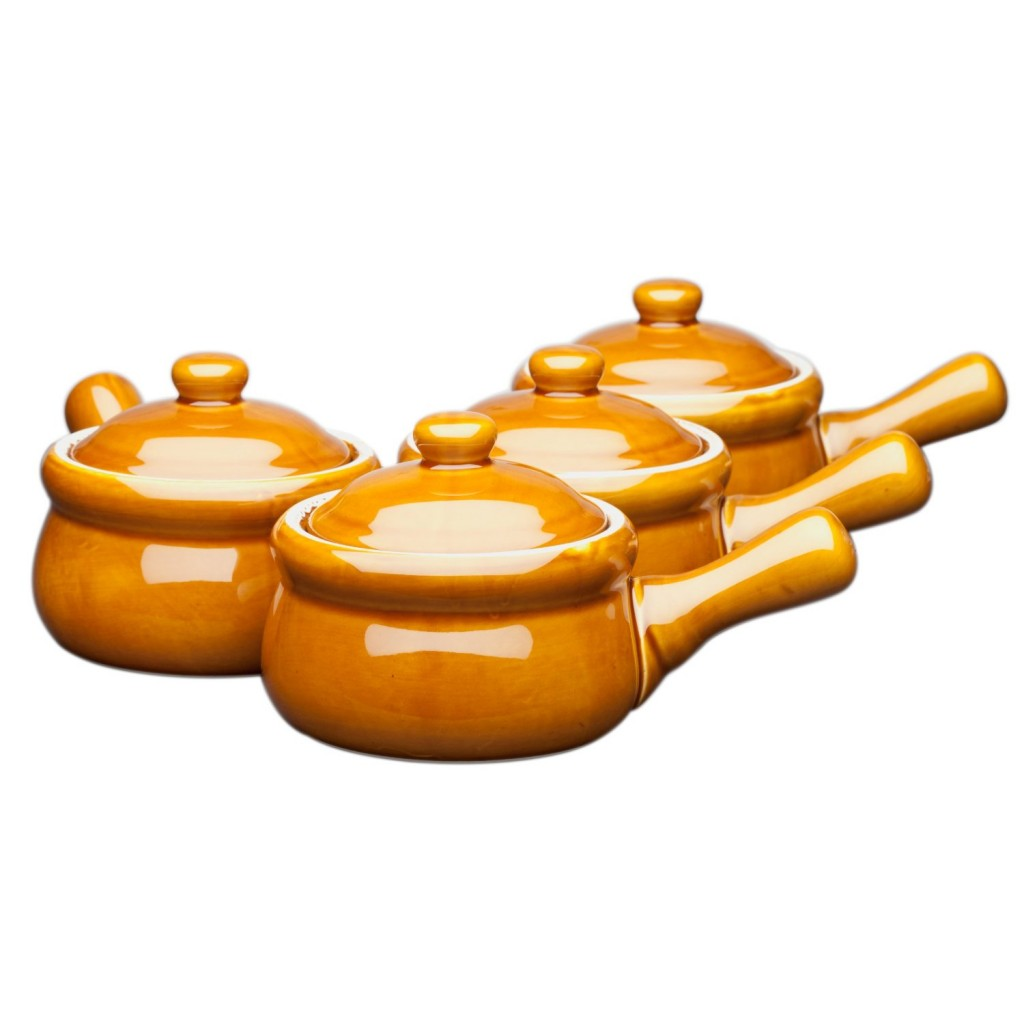 HIC Ceramic Onion-Soup Crock with Lid
