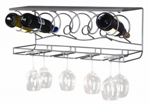 Hanging Stemware Rack - Essential tool for any kitchen or home bar