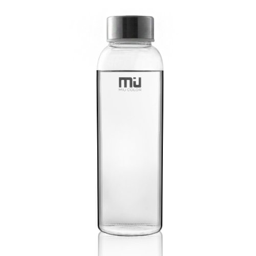 MIU COLOR Stylish Portable Real Borosilicate Glass Water Bottle
