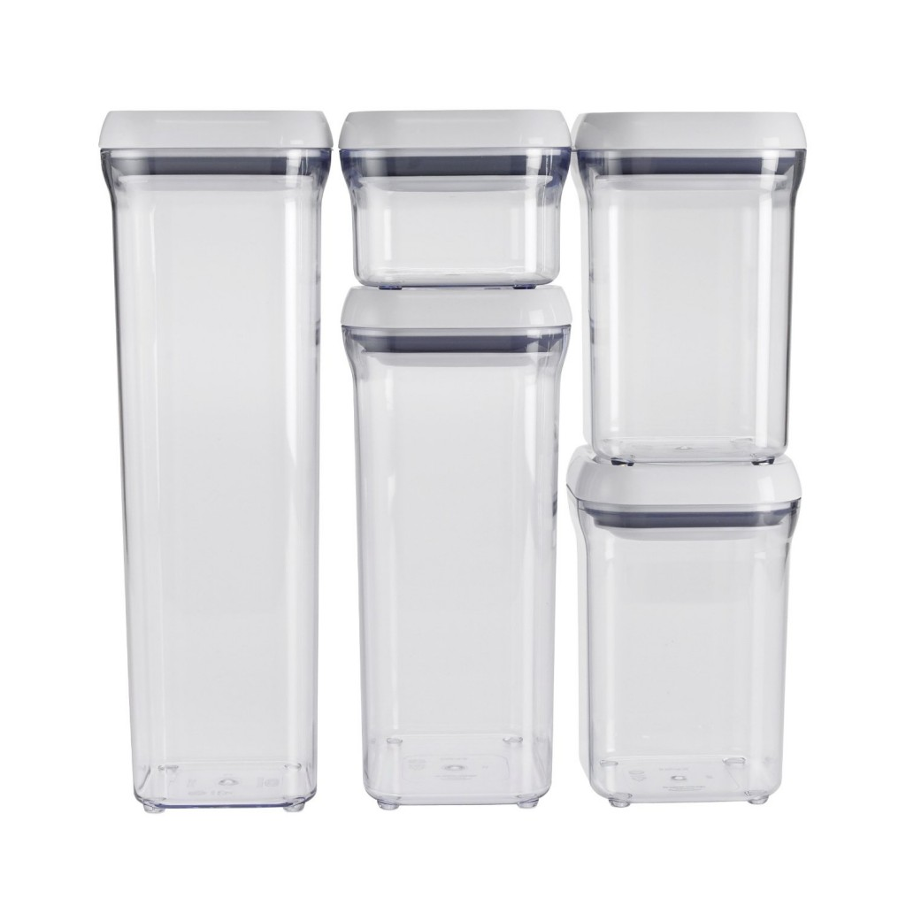 OXO Good Grips 5-Piece POP Container Set, White