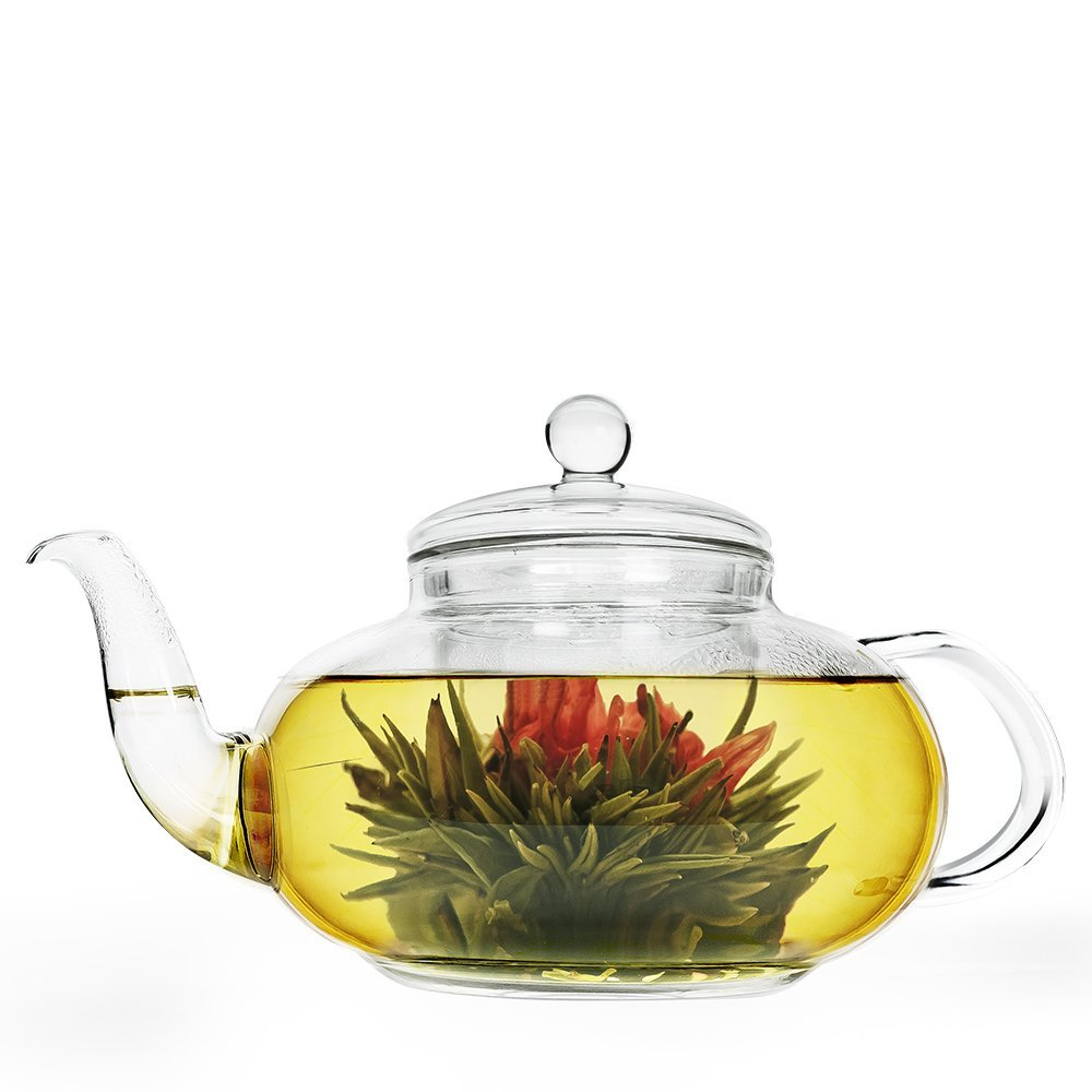 Primula 40 Ounce Daisy Glass Teapot with Tea Infuser