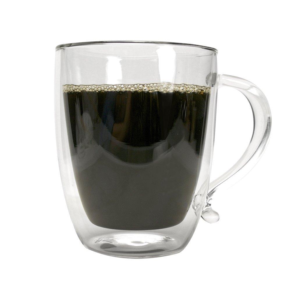 Primula Double Walled Borosilicate Glass Coffee Mug