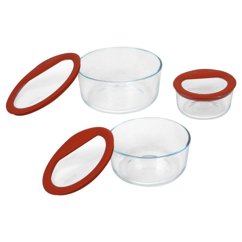 Pyrex No Leak Glass Container Set