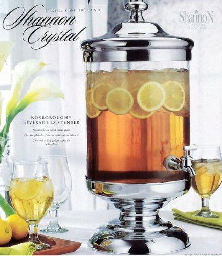 Shannon Crystal 2.5 Gallon Roxborough Beverage Jar Dispenser with Spigot