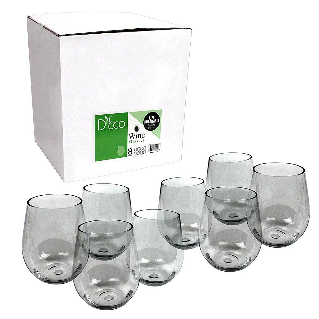 Shatterproof Stemless Wine Glasses