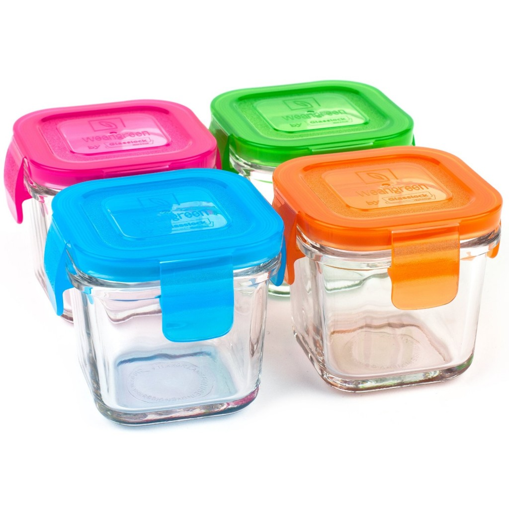 Wean Green 4-Pack Wean Cubes Glass Food Containers