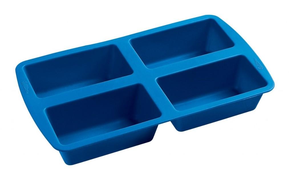 Wilton Easy Flex Silicone Four Cavity Mini Loaf Pan