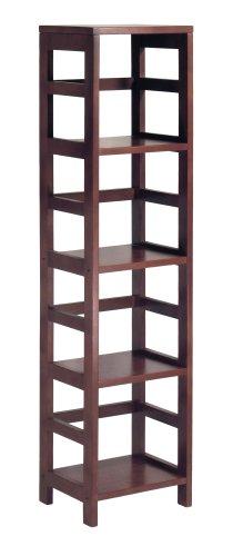 Winsome Wood 4-Shelf Narrow Shelving Unit