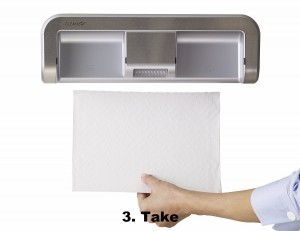 Touchless Paper Towel Dispenser - Great solution for hygienic dispensing.