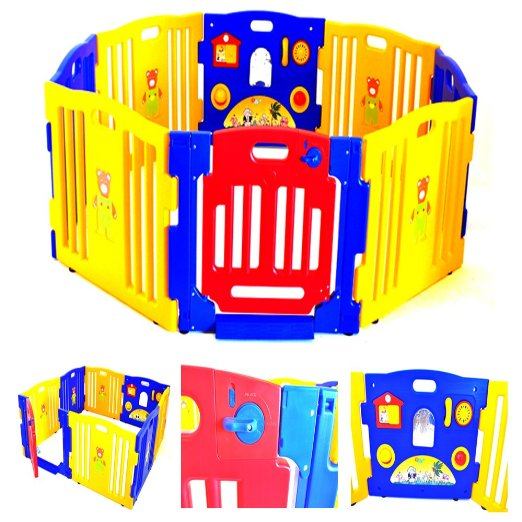 Baby Playpen Kids 8 Panel Safety Play Center Yard