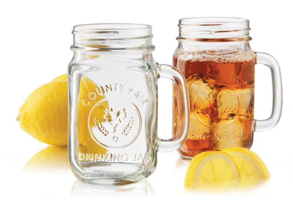 Libbey Country Fair 4-Piece Drinking Jar
