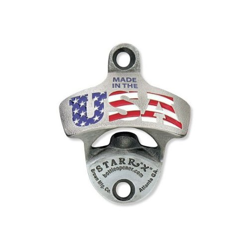 MADE IN THE USA Flag Zinc Aluminum Starr