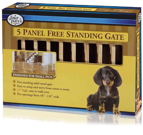 Panel Free Standing Walk Over Wood Gate