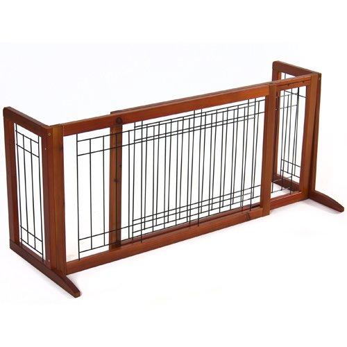 Pet Fence Gate Free Standing Adjustable Dog