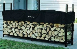 Firewood Log Rack - Firewood is safely stored and ready for use