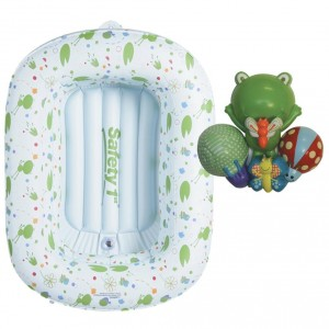 Inflatable Tub - Bathe baby in a safe, padded space