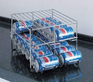 Beverage Can Dispenser - Great additional kitchen storage