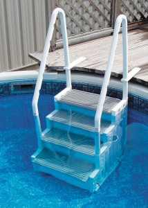 Aboveground Pool Ladder - Make exiting and entering your pool easier than ever before