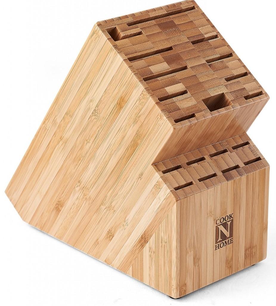 Cook N Home Bamboo Knife Storage Block