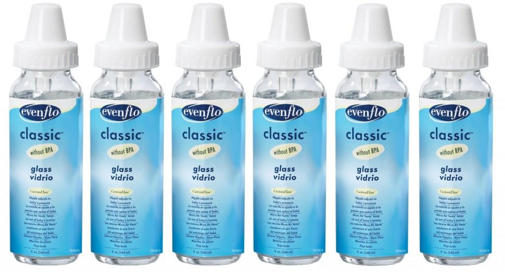 Evenflo 6 Pack Classic Glass Bottle