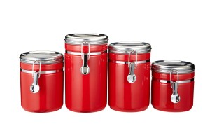 Red Canister Set - Convenient and attractive storage solution