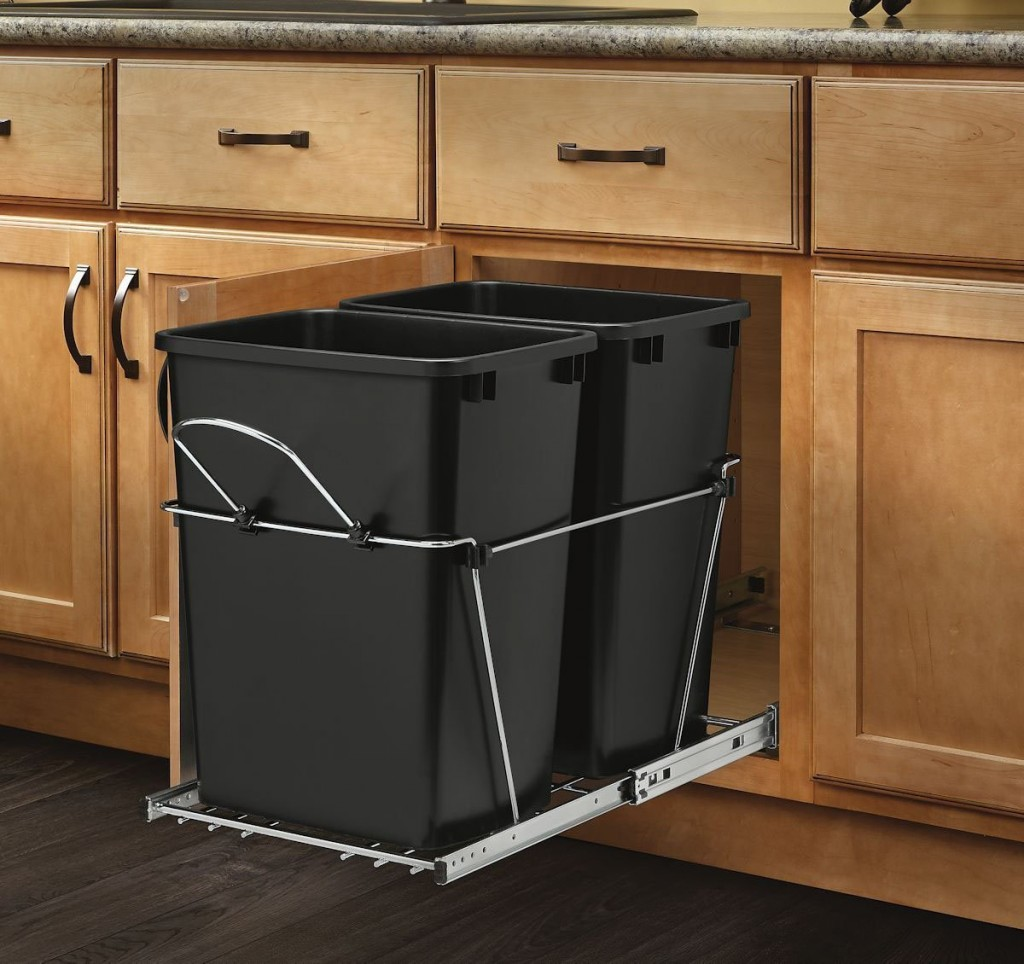 trash cabinet 5 best counter pull out trash can elegantly and 27298