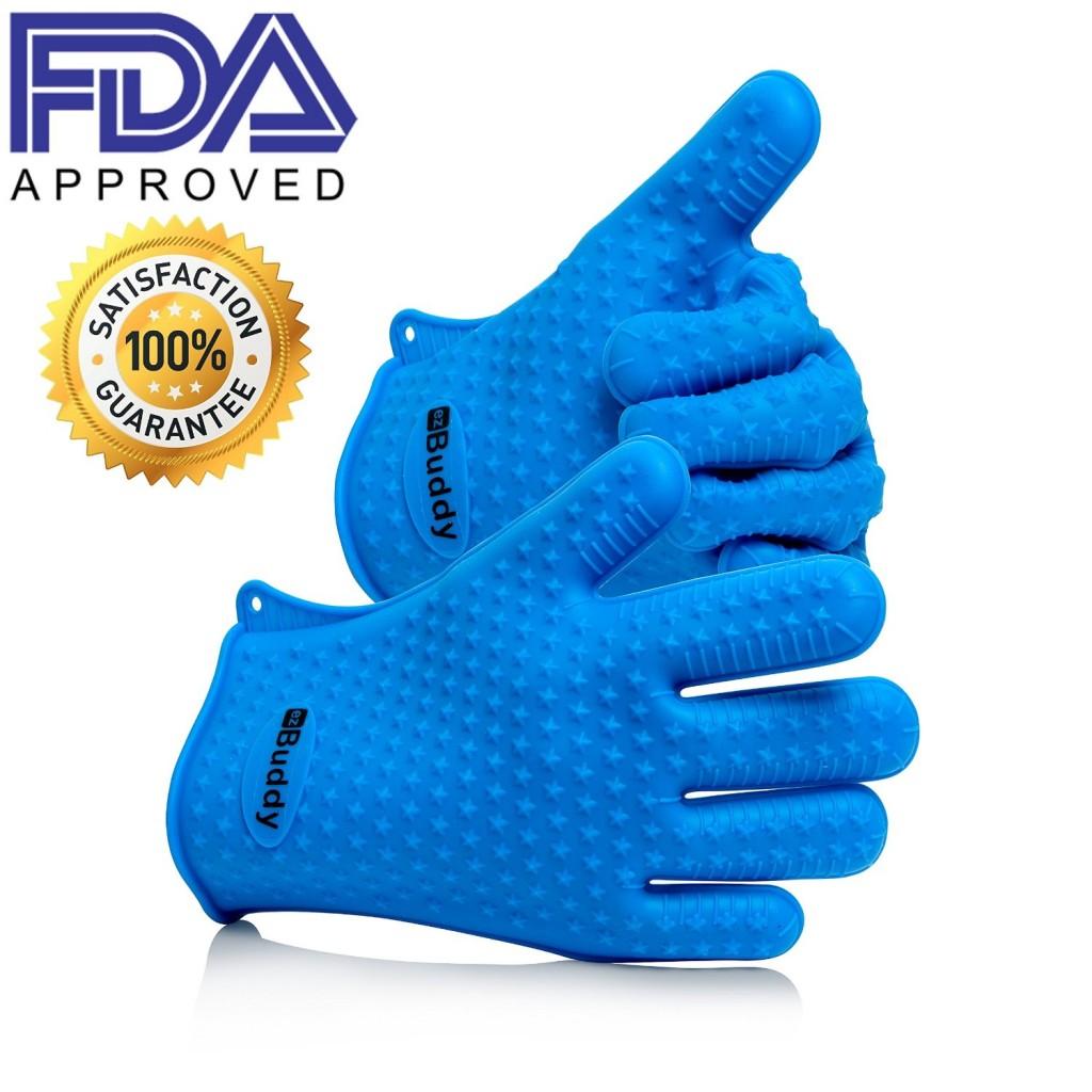 ezBuddy Silicone BBQ Grill Gloves