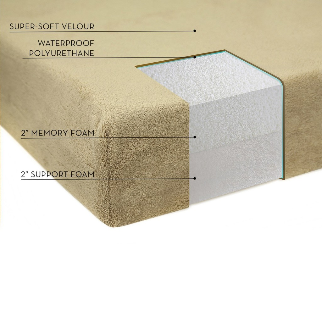 Brindle 4 Inch Solid Memory Foam Orthopedic