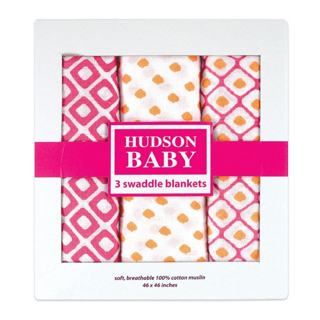 Hudson Baby Muslin Swaddle Blankets
