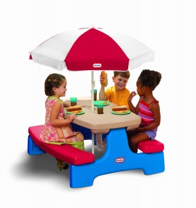 Picnic Table with Umbrella For Kids