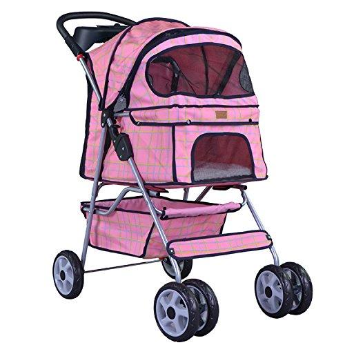 4 Wheels Pet Dog Cat Stroller