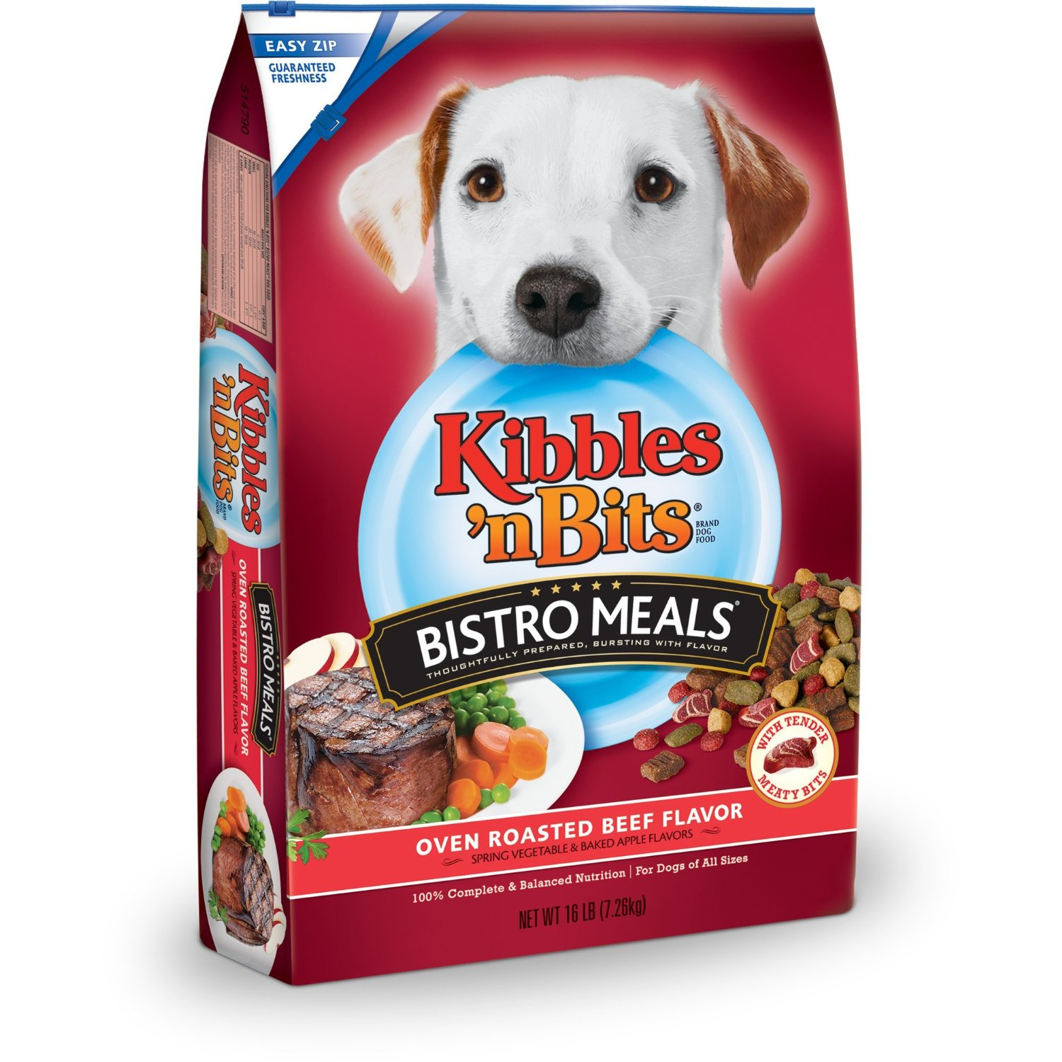 Kibbles Bits Bistro Meals Oven Roasted Beef for Dogs