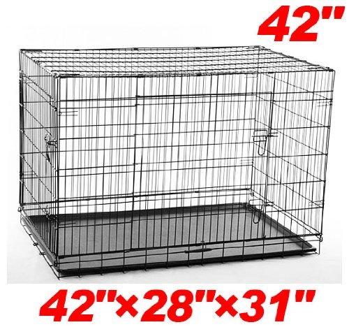 Pawhut 2-door Folding Wire Pet Dog Crate