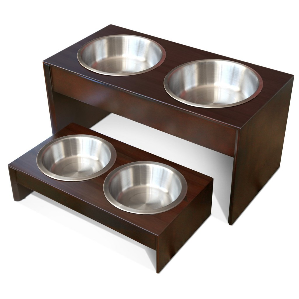PetFusion Elevated Pet Feeder in Solid Wood